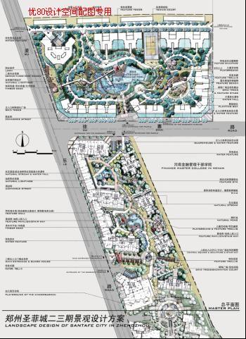 商业区规划与设计手绘图