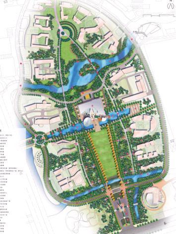 华东师范大学闵行校区主景观轴设计方案-edaw