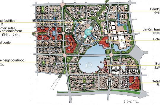 天津塘沽海洋高新技术开发区城市设计2009