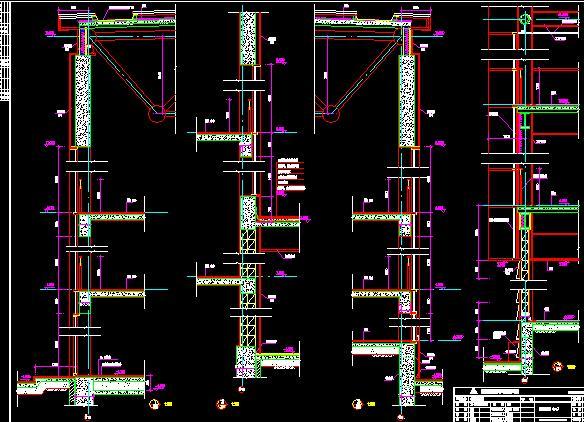 各分区各楼层平面,立面,剖面建筑图纸,观众厅,幕墙,墙身,钢结构,楼梯