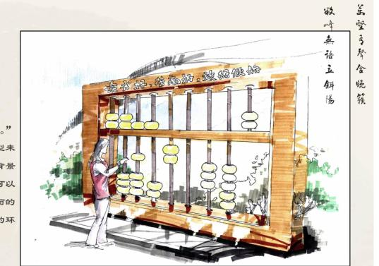 各节点效果图,透视图,中轴景观及绿化组团设计,园林小品设计,绿化设施