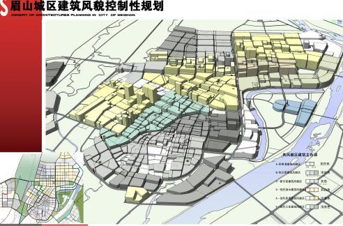 眉山风貌建筑岗位控制性设计-华中科技大-优8模型城区规划3d图片