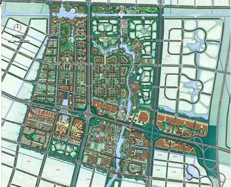 南通经济技术开发区中心区概念规划设计2009图片