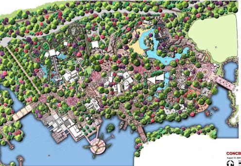 手绘总平面; 主题公园锦集 公园绿地 规划设计中国风景园林领先综合图片