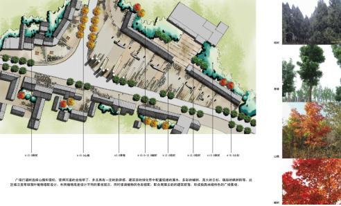 种植设计-商业街入口广场地块