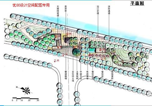 """因此在此次梅州南堤滨江公园的植物设计中,以突出""""根""""的文化内涵为图片"""