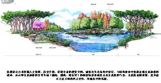 岛屿设计平面图手绘
