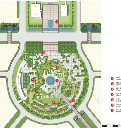 人民广场生态公园平面布置