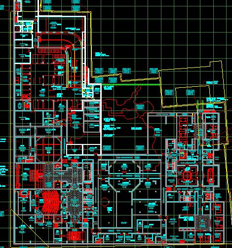 地下室平面图-苏州博物馆建筑结构CAD出图图片