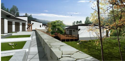 北京怀柔晓龙埔中式会所建筑及景观设计——清华工美图片