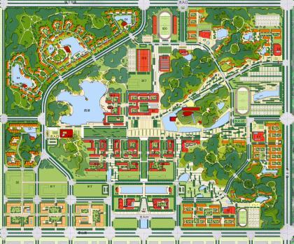 湖南工业大学校园规划设计——华南理工图片