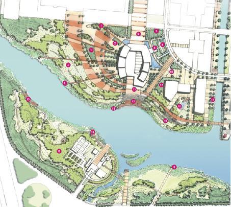 宁波市东部新城甬新干河河岸景观设计 EDAW
