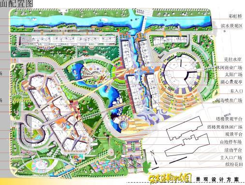 东海县水晶公园规划图; 张家港购物公园景观设计,规划设计; 总平面