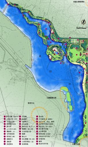 新余湿地公园景观总平面图