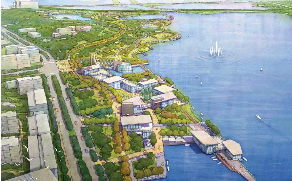蚌埠自古乃采珠之地,又称珠城,位于安徽省东北部,淮河中游。北部公园所处的龙子湖是安徽蚌埠最大的景观湖泊,整个景区总面积约38.9平方公里。龙子湖环湖分布着丰富的人文自然资源。龙子湖景区是未来新区生态型滨水城市的所在地。作为滨水公园的北公园,滨水体验是也是设计的关键,龙子湖常水位17.