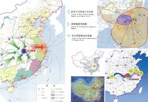 手绘漫画地图武汉