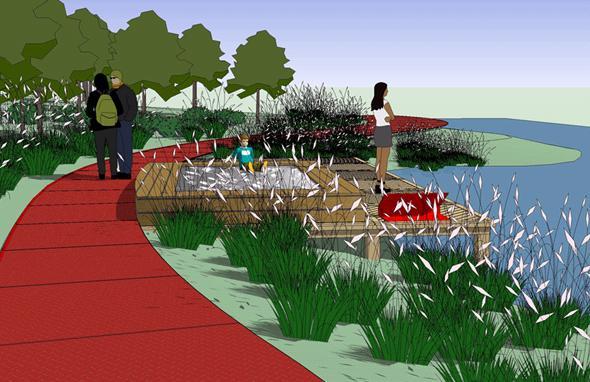 秦皇岛市汤河两岸带状公园景观规划设计方案—土人