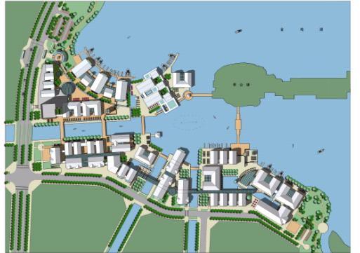 """苏州工业园区""""水巷邻里""""商业区规划设计——阿特金斯"""