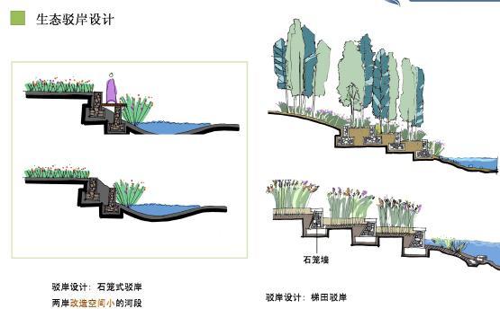 PDF格式、80清晰页面。内容包括:一对河道现状的认识;二 概念方案介绍(前期分析、设计问题与对策、设计构思与方案特色、重要节点设计、河道生态设计、总体设计分析);三 实施过程中遇到的难点与问题;四 目前项目进展情况。   总体概念:绿河是一道重要的线型开放空间,它用自然化的岛岸将植被串联起来,用木栈道创造大量的亲水空间,用渐变而双统一的桥梁连接两岸,在恢复场地自然基质的基础上,为当地居民提供一个连续的游憩系统。