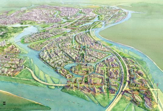 顺德新城城市设计中标方案2009 SWA