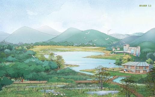 天鹿湖地区虽然未具国家级旅游自然资源, 但由于位于广州市东进发展的战略位置, 紧邻萝岗区国际高新技术产业区, 加上丰富的山水田林等生态环境, 其区域旅游兼具 分与合 的4P策略思维。 分 指的是天鹿湖地区与广州市其他旅游景点的差异与错位产品(Product)策略, 在和谐的山水田林资源衬托下, 让商务与市民游客无形地透过体验与活动中, 认知到天鹿湖地区既养生又修心的区域旅游品牌, 能够满足观光旅游、休闲度假、商务会展、科教探险等多层次的要求。 合 指的是天鹿湖地区可以与广州市现有的旅游景点结合的