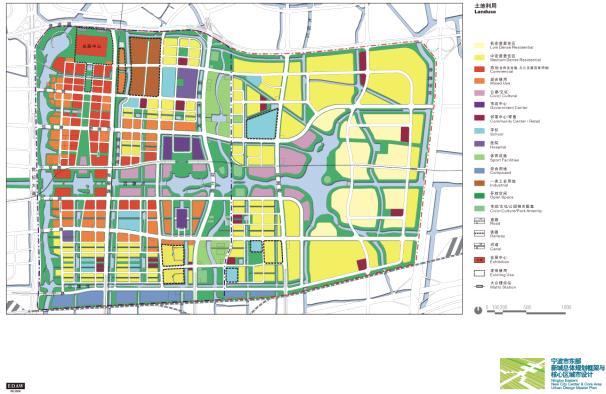 宁波市东部新城总体规划及核心区城市设计全套高清图纸 EDAW