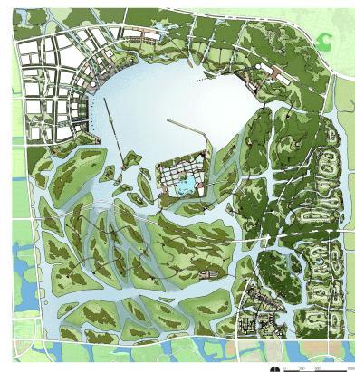 愿景及目标;环境分析及开发策略;总体景观规划设计;梅山风景旅游区