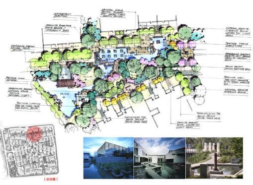 内容包括:设计概念;总平面图;分区设计;植物配置;景观元素.