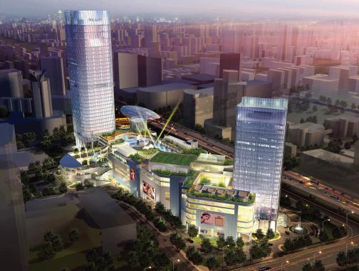 上海合生水印广场最终概念设计建筑国际-优80v水印怎样方案图片