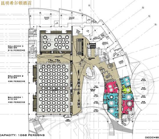 昆明希尔顿酒店公共区域设计装修概念方案2011——hba