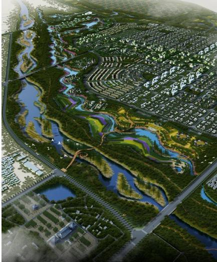 洪洞西部滨河城市设计——北京土人