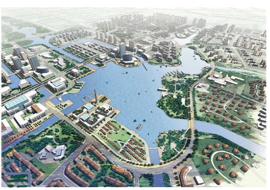 宁波东部新城明湖地区控制性规划 EDAW
