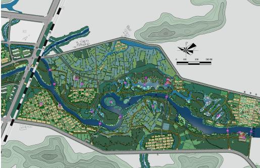 图纸别墅:包括滨水界面和基础现状⑴滨水界面:在保留界面界面的景观二层植被建筑设计城市图片