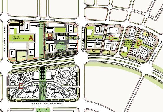 南昌金融区b地块总平面设计方案2009——som