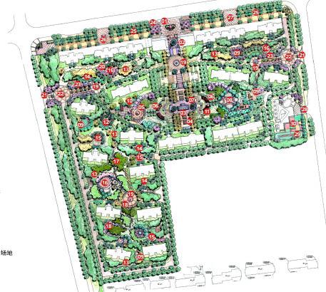 小区内景观空间围绕欧式新古典一个主题阐述,组团花园也可由欧州不同