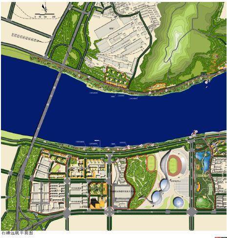 株洲市湘江风光带城市设计与滨水公共空间景观设计