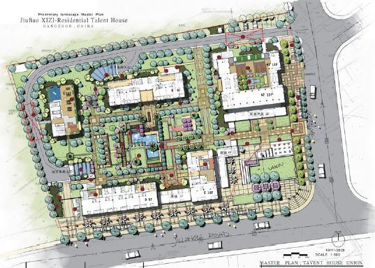 杭州西子人才公寓景观设计——加拿大伍道