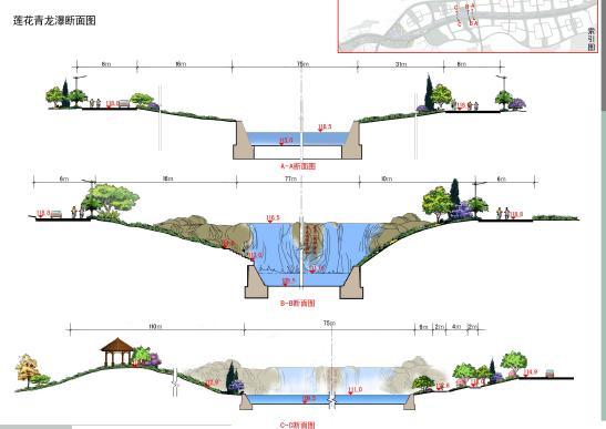 图片说明2-梅花断面景观效果图-手绘投稿-手绘100网   求别