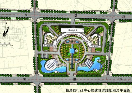 临澧县行政中心规划建筑设计方案