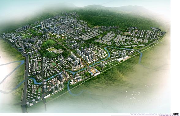 重庆长寿区北部片区城市设计及控制性详细规划简介