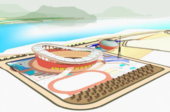 重庆市万州区体育中心建筑设计概念方案