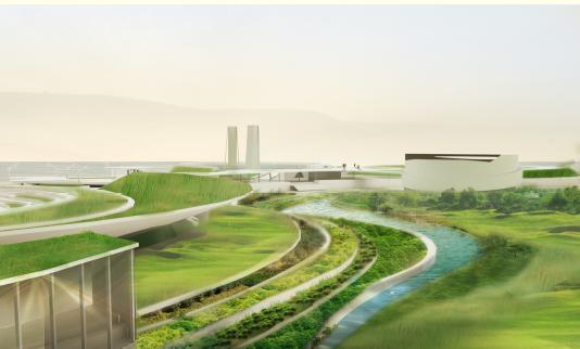 唐山湾湖心岛概念性规划方案设计——美国aoa