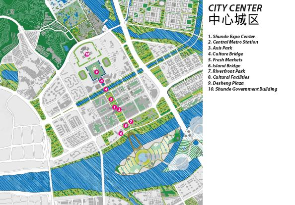 中心城区平面图