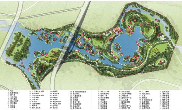 临汾润州园城市湿地公园景观工程方案设计2013