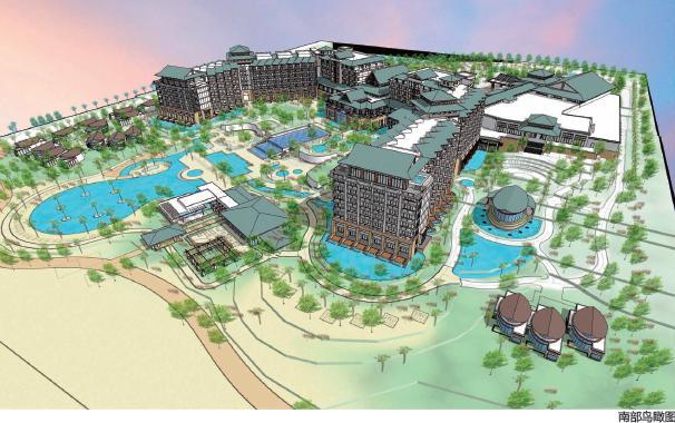 陵水海南清水湾万豪规划酒店度假建筑设计--J结构房子框架设计图图片