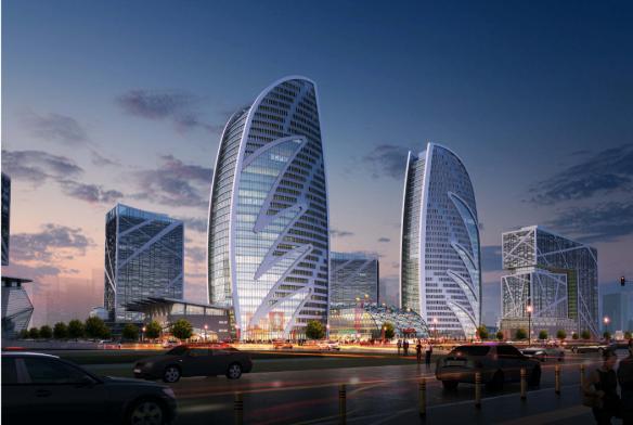 华南江苏金融城方案v方案建筑设计项目-优80设盐城建筑设计张加利图片