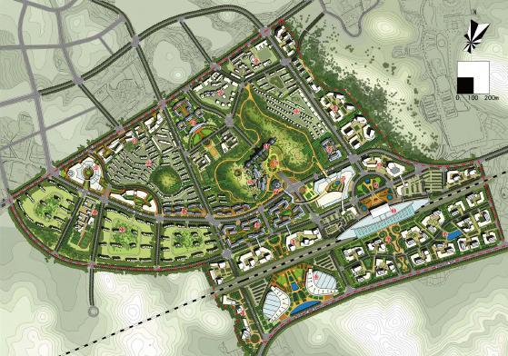 凱里經濟開發區高鐵中心城市設計2012——邦城