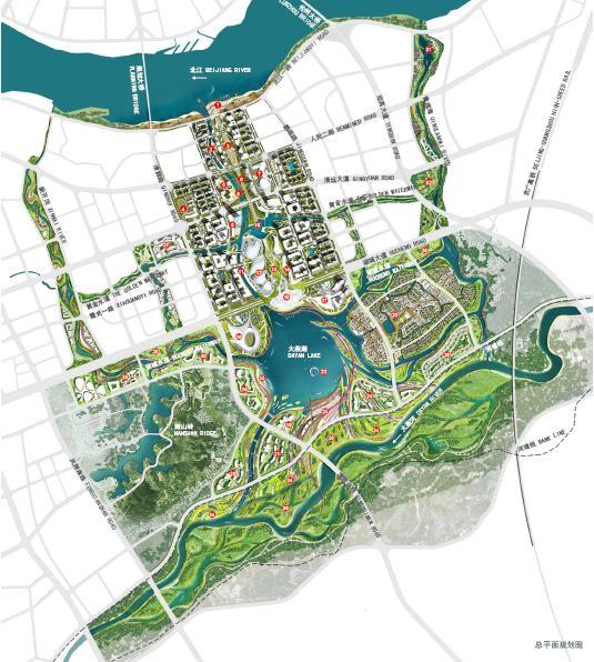 燕湖新城滨水区概念规划与中心区详细设计 广州规划院