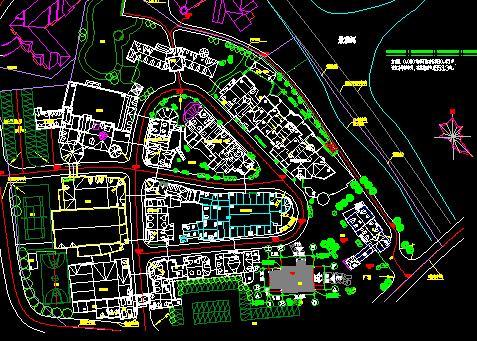欧式小镇中心区礼堂建筑施工图