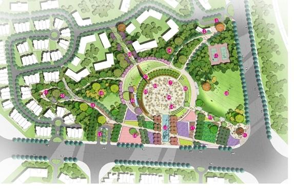 "for an urban park 东莞钻石半岛酒店多功能建筑体景观设计 成都""大"